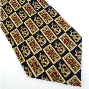 PIERRE BALMAIN PARIS Designer Silk Tie Black Gold